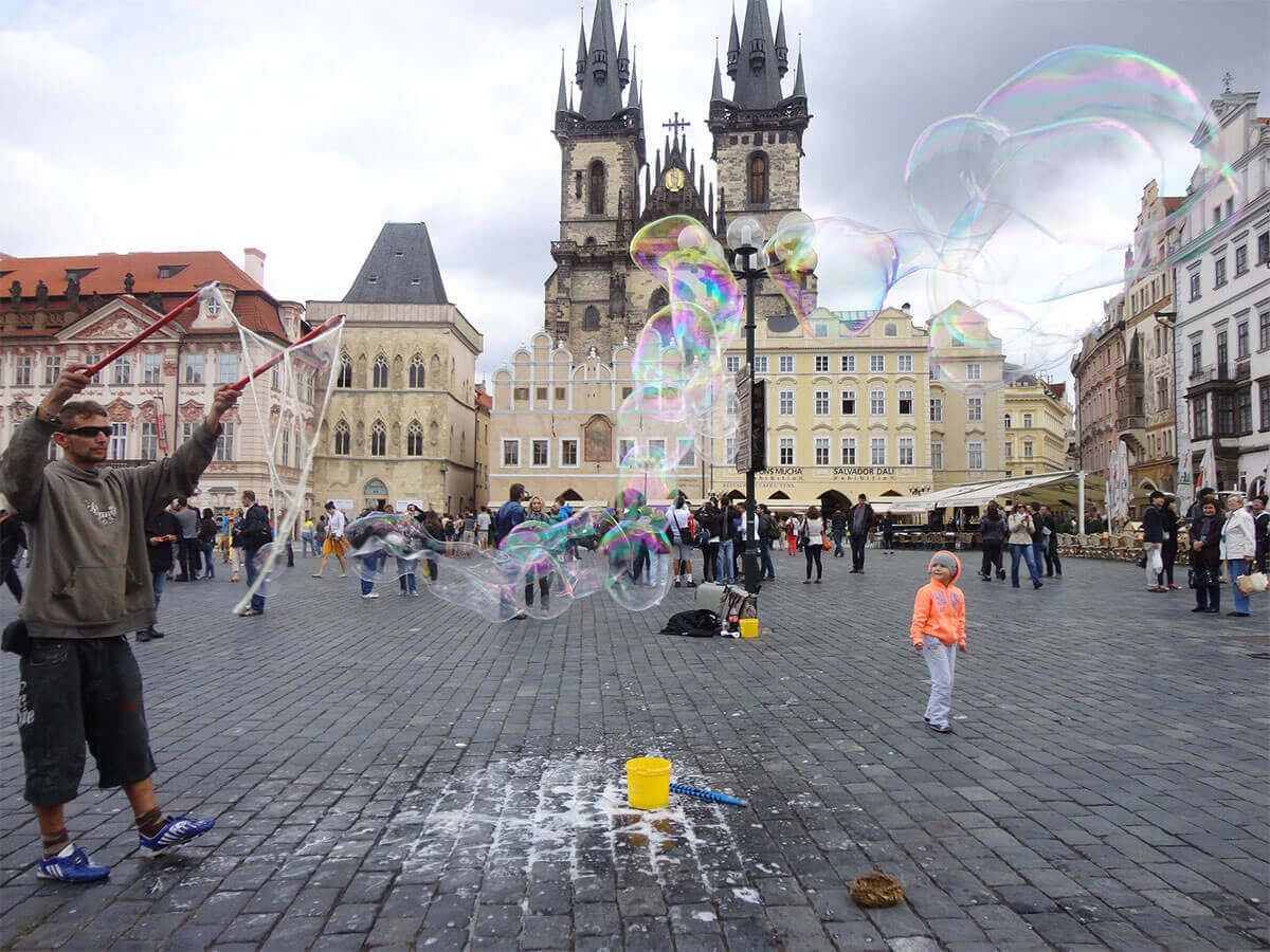 prague and children